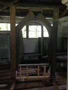 The frame of the original cathedral window from Tara