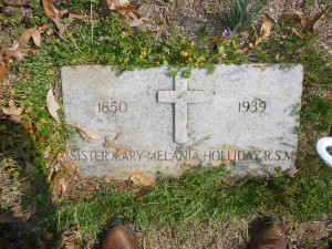 The headstone of the real Melanie Hamilton in GWTW.