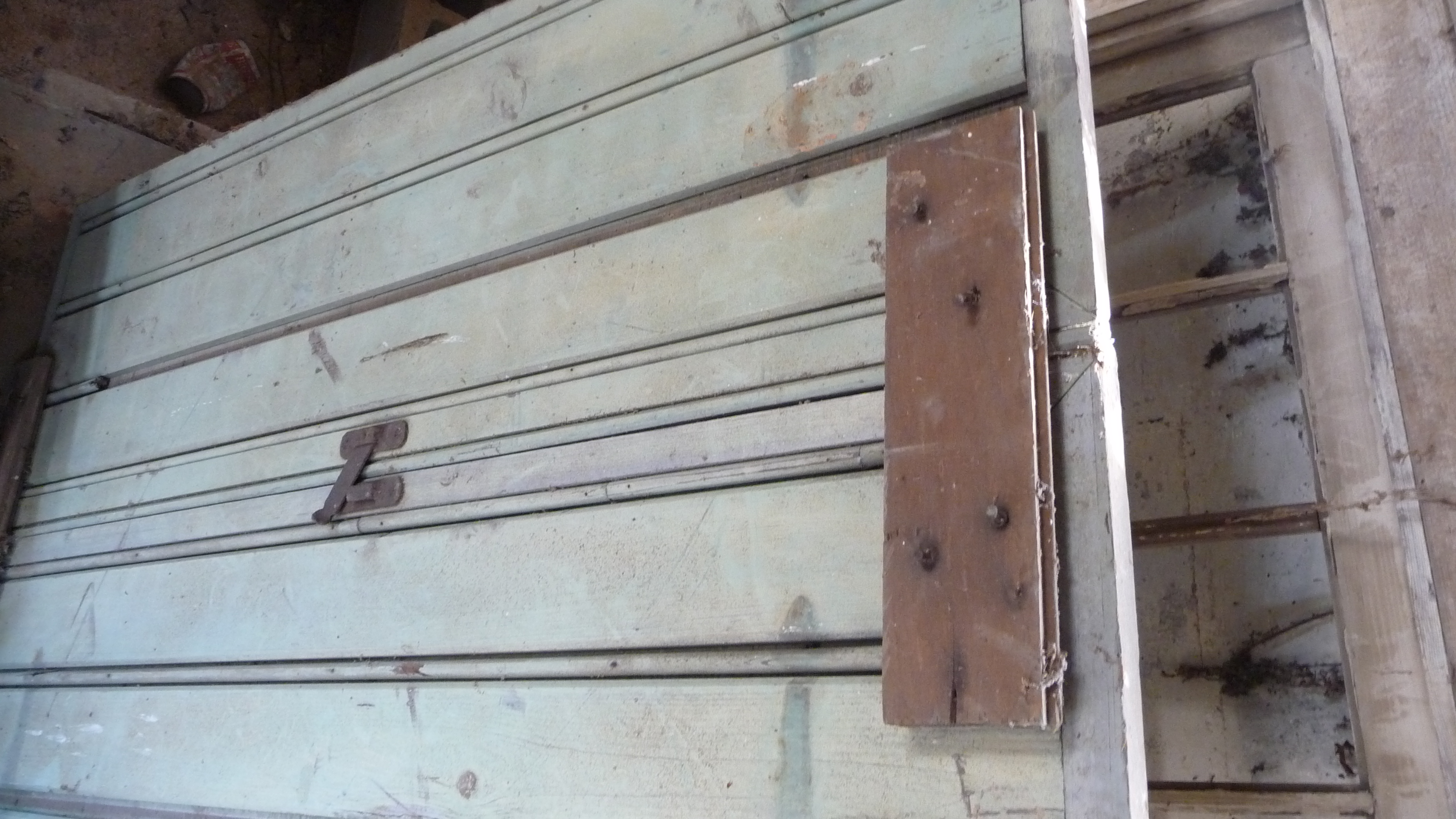 The bead board shutter that stood behind Prissy on the side porch in GWTW